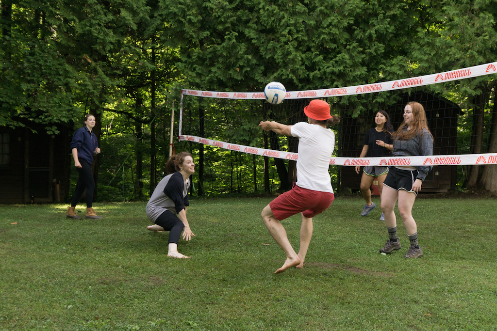 Pickup volleyball game